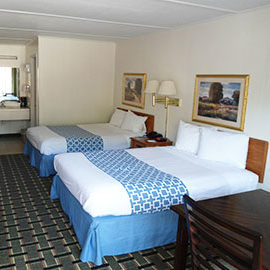 Super Value Inn Fredericksburg 2 Double Bed Bedroom